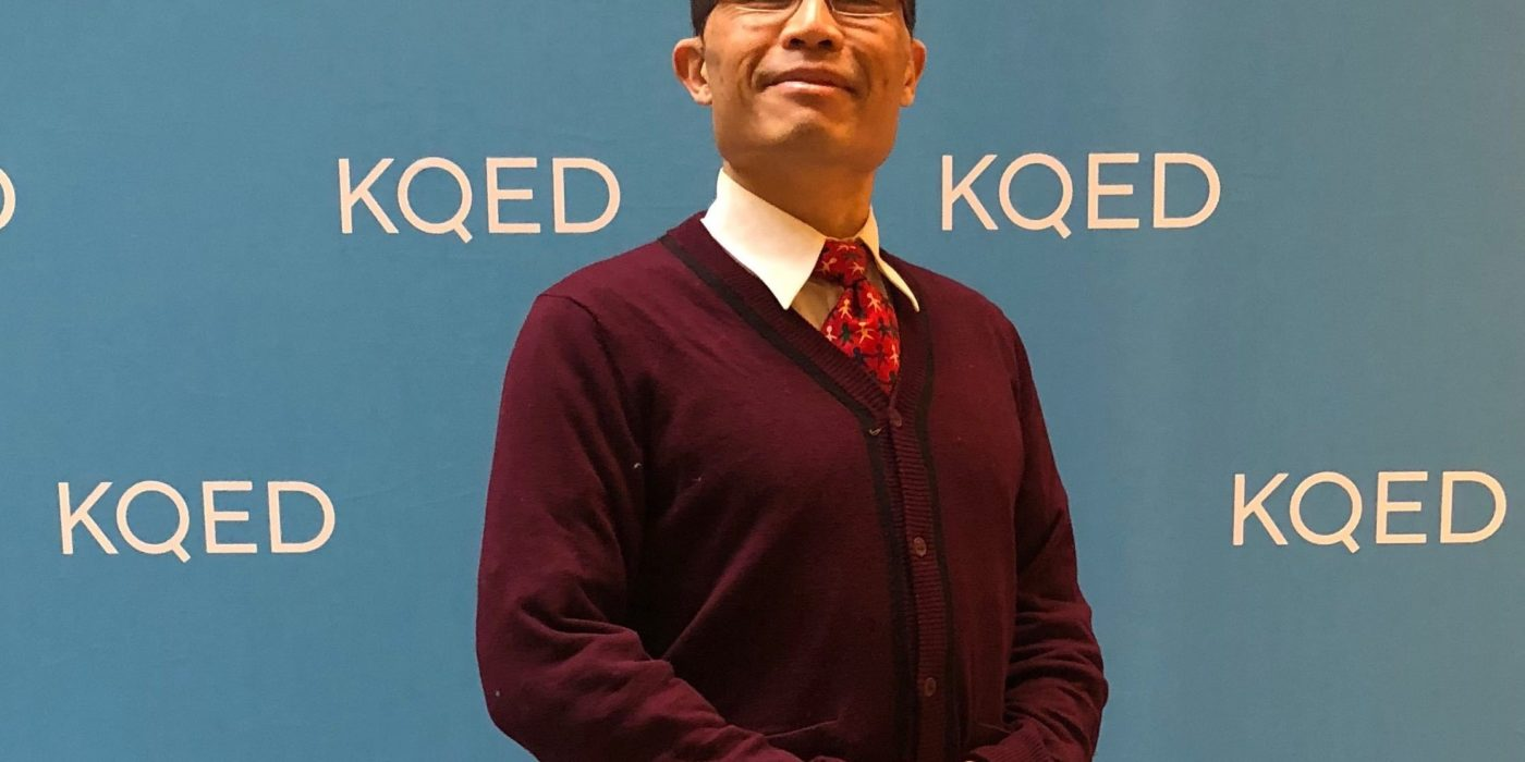rik at KQED on Mister Rogers Day